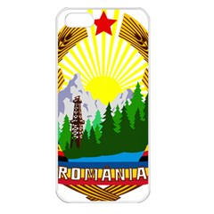 National Emblem Of Romania, 1965 1989  Apple Iphone 5 Seamless Case (white)