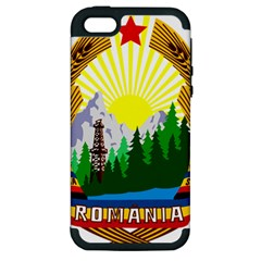 National Emblem Of Romania, 1965 1989  Apple Iphone 5 Hardshell Case (pc+silicone)