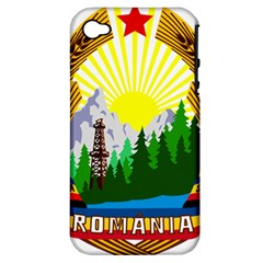 National Emblem Of Romania, 1965 1989  Apple Iphone 4/4s Hardshell Case (pc+silicone)