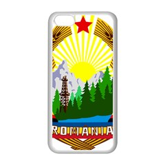 National Emblem Of Romania, 1965 1989  Apple Iphone 5c Seamless Case (white)