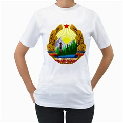 National Emblem Of Romania, 1965 1989  Women s T Shirt (white)