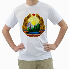 National Emblem Of Romania, 1965 1989  Men s T Shirt (white)