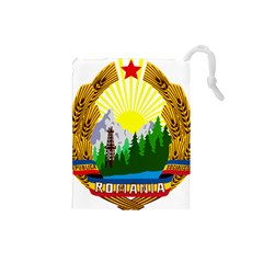 National Emblem Of Romania, 1965 1989  Drawstring Pouches (small)