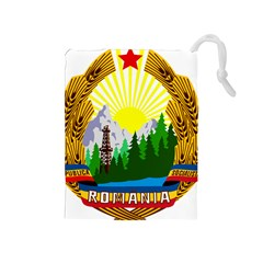National Emblem Of Romania, 1965 1989  Drawstring Pouches (medium)