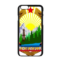 National Emblem Of Romania, 1965 1989  Apple Iphone 6/6s Black Enamel Case