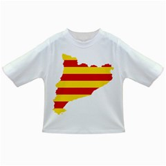 Flag Map Of Catalonia Infant/toddler T Shirts