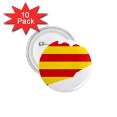 Flag Map Of Catalonia 1 75  Buttons (10 Pack)