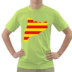Flag Map Of Catalonia Green T Shirt