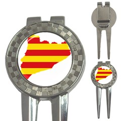 Flag Map Of Catalonia 3 In 1 Golf Divots