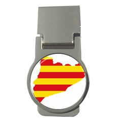 Flag Map Of Catalonia Money Clips (round)
