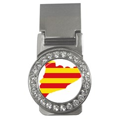 Flag Map Of Catalonia Money Clips (cz)