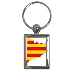 Flag Map Of Catalonia Key Chains (rectangle)