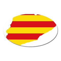 Flag Map Of Catalonia Oval Magnet