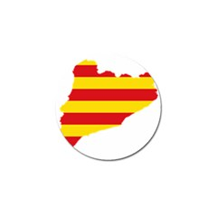 Flag Map Of Catalonia Golf Ball Marker