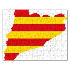 Flag Map Of Catalonia Rectangular Jigsaw Puzzl