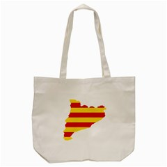 Flag Map Of Catalonia Tote Bag (cream)