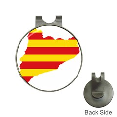 Flag Map Of Catalonia Hat Clips With Golf Markers