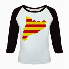Flag Map Of Catalonia Kids Baseball Jerseys