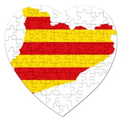 Flag Map Of Catalonia Jigsaw Puzzle (heart)