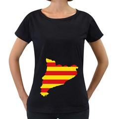 Flag Map Of Catalonia Women s Loose Fit T Shirt (black)