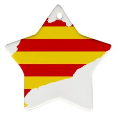 Flag Map Of Catalonia Star Ornament (two Sides)