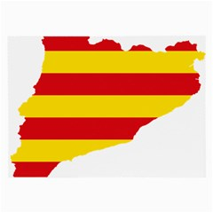 Flag Map Of Catalonia Large Glasses Cloth