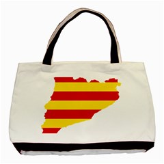 Flag Map Of Catalonia Basic Tote Bag (two Sides)