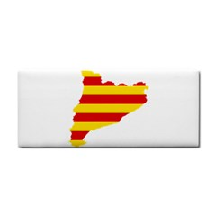 Flag Map Of Catalonia Hand Towel
