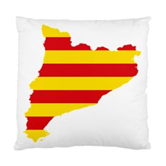 Flag Map Of Catalonia Standard Cushion Case (one Side)