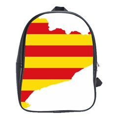 Flag Map Of Catalonia School Bags(large)
