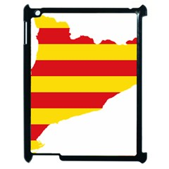 Flag Map Of Catalonia Apple Ipad 2 Case (black)