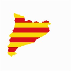 Flag Map Of Catalonia Large Garden Flag (two Sides)