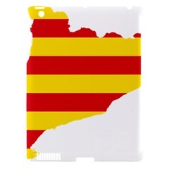 Flag Map Of Catalonia Apple Ipad 3/4 Hardshell Case (compatible With Smart Cover)