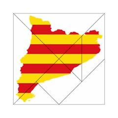 Flag Map Of Catalonia Acrylic Tangram Puzzle (6  X 6 )