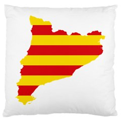 Flag Map Of Catalonia Large Cushion Case (two Sides)