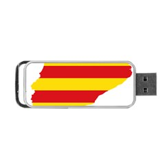 Flag Map Of Catalonia Portable Usb Flash (one Side)