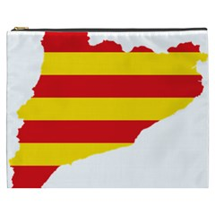 Flag Map Of Catalonia Cosmetic Bag (xxxl)