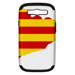 Flag Map Of Catalonia Samsung Galaxy S Iii Hardshell Case (pc+silicone)