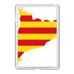 Flag Map Of Catalonia Apple Ipad Mini Case (white)