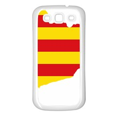 Flag Map Of Catalonia Samsung Galaxy S3 Back Case (white)