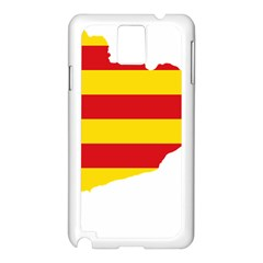 Flag Map Of Catalonia Samsung Galaxy Note 3 N9005 Case (white)