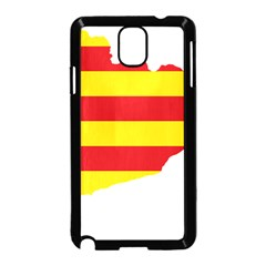 Flag Map Of Catalonia Samsung Galaxy Note 3 Neo Hardshell Case (black)