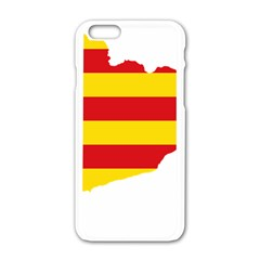 Flag Map Of Catalonia Apple Iphone 6/6s White Enamel Case