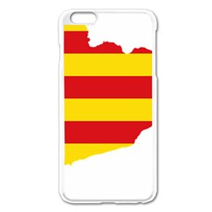 Flag Map Of Catalonia Apple Iphone 6 Plus/6s Plus Enamel White Case