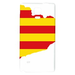 Flag Map Of Catalonia Galaxy Note 4 Back Case