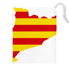 Flag Map Of Catalonia Drawstring Pouches (xxl)