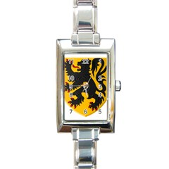Flanders Coat Of Arms  Rectangle Italian Charm Watch