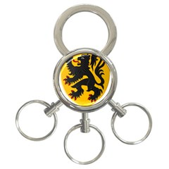 Flanders Coat Of Arms  3 Ring Key Chains