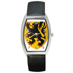 Flanders Coat Of Arms  Barrel Style Metal Watch
