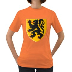 Flanders Coat Of Arms  Women s Dark T Shirt